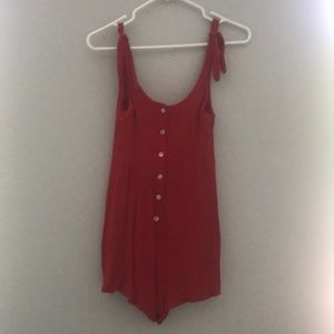 UO red romper